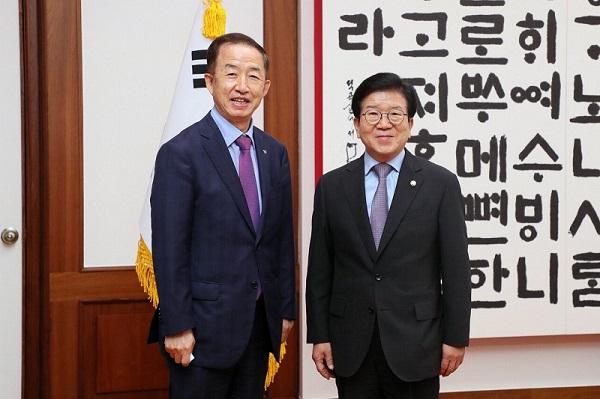 김사열 위원장, 박병석 국회의장 예방 사진
